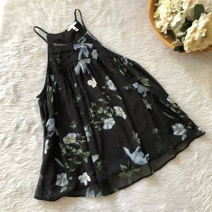 Joie Floral Silk Pleated Tank
